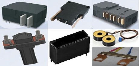 Latching relay, DC contactor, Shunt resistor and CTs