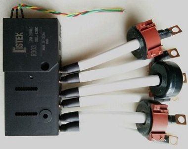 Three Phase ISTEK 100A and 120A Latching Relay and CT Assembly for Smart Energy Meter